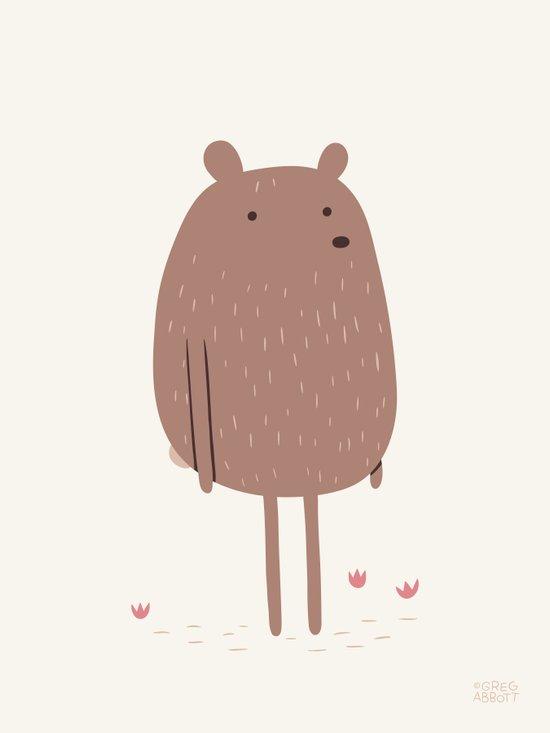 There Bear Art Print