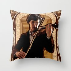 Art Nouveau: The Violinist Throw Pillow