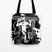 Man on the moon Tote Bag