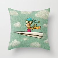 Paperplane2 Throw Pillow