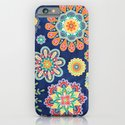 Folky Flora-blue iPhone & iPod Case