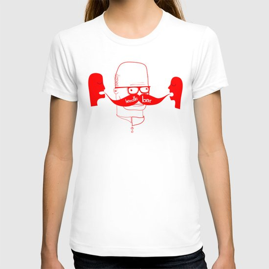 Documenting the Discovery of the Handlebar Mustache T-shirt