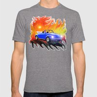 70 VW Super Beetle Mens Fitted Tee Tri-Grey SMALL