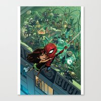 Lil' Spidey Canvas Print
