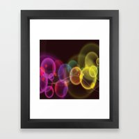 Rainbow Bubbles Design Framed Art Print