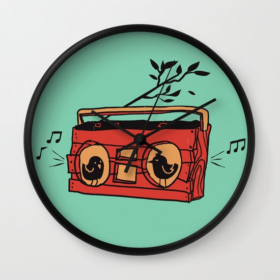Nature's boombox Wall Clock