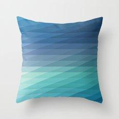 Fig. 042 Blue Geometric Diagonal Stripes Throw Pillow