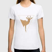All lines lead to the...Inverted Springbok Womens Fitted Tee Ash Grey SMALL