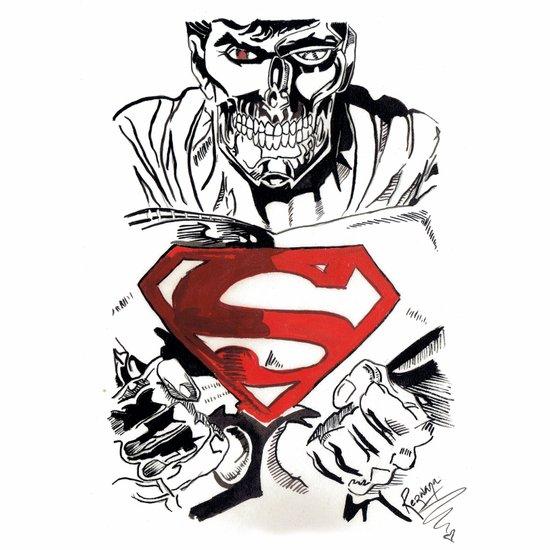 Cyborg Superman  Art Print