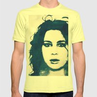 ss Mens Fitted Tee Lemon SMALL