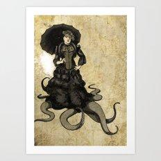 Lila, the tentacled lady Art Print