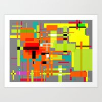 Lines and Sqaures Art Print