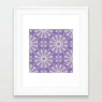 Jungle Kaleidoscope Amethyst II Framed Art Print