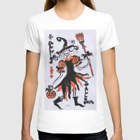 Happy Halloween Womens Fitted Tee White SMALL