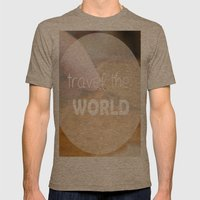 Travel the world Mens Fitted Tee Tri-Coffee SMALL