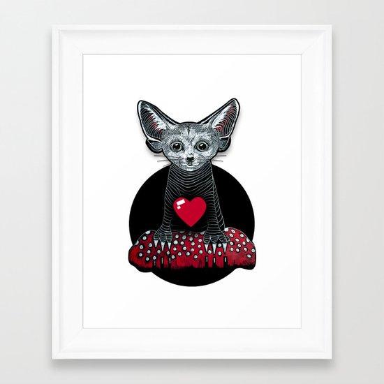 Little Fenek:::Big-hearted Framed Art Print