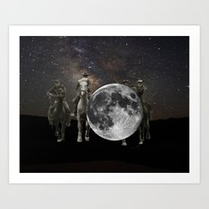 hang the moon Art Print