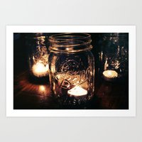 Candle Jar Art Print