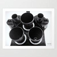 Rocket Motors on Shuttle Atlantis Art Print