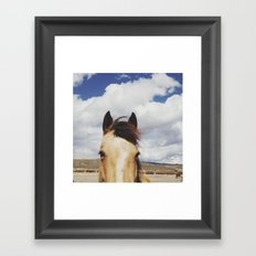 Cloudy Horse Head Framed Art Print