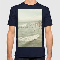 Summer Time Mens Fitted Tee Navy SMALL