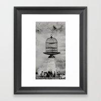 Spaceship Jail Framed Art Print
