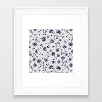Indigo Floral Trail (rev… Framed Art Print