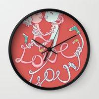 intertwined love Wall Clock