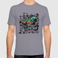 GLOBAL A GO-GO Mens Fitted Tee Slate SMALL