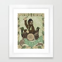 Mr. Squatch and the Stumps Framed Art Print