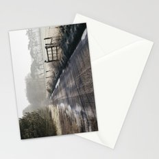 Remote frozen country road a t sunrise. Norfolk, UK. Stationery Cards