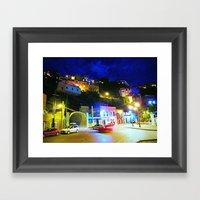 Guanajuato At Night Framed Art Print