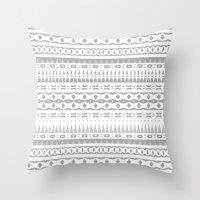 Gray Aztec Throw Pillow