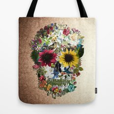 Skull flower Tote Bag