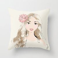 girlie Throw Pillow