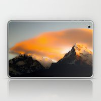 Welcoming dawn in the mountains Laptop & iPad Skin