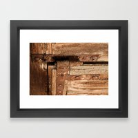 LOST PLACES - dusty rusty hinge Framed Art Print