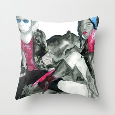 In Space! Throw Pillow