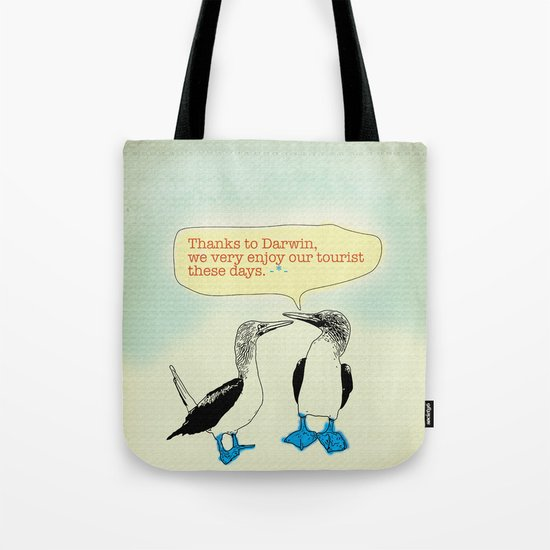 Leave Galapagos alone,pls. Tote Bag