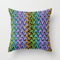 Native Wave Digital Pain… Throw Pillow