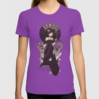 The Sound Of Her Wings Womens Fitted Tee Ultraviolet SMALL