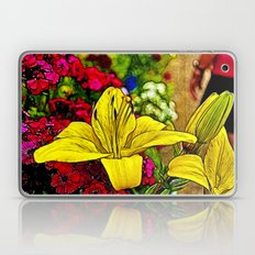 Fractal Yellow Lily Laptop & iPad Skin