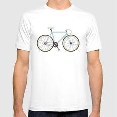 Classic Road Bike White Mens Fitted Tee SMALL