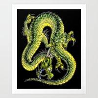 japanese dragon 9 Art Print
