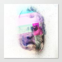 Glitch-face Canvas Print