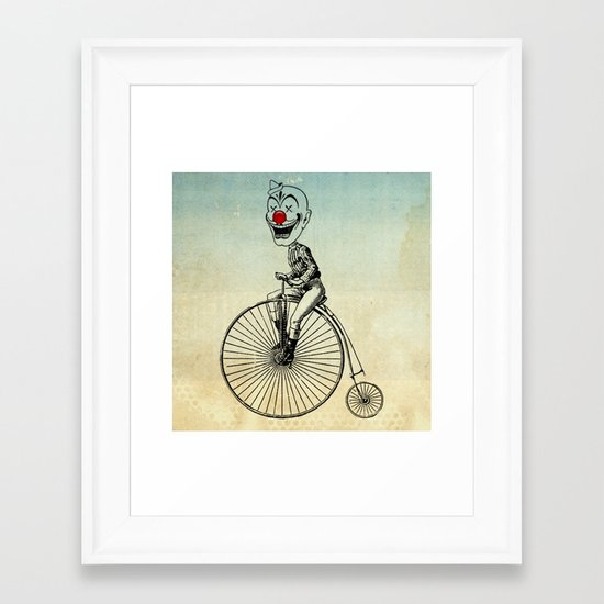 clown on a bike 02 Framed Art Print