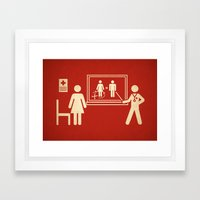 Sex change Framed Art Print