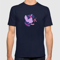 Twilight Sparkle Mens Fitted Tee Navy SMALL