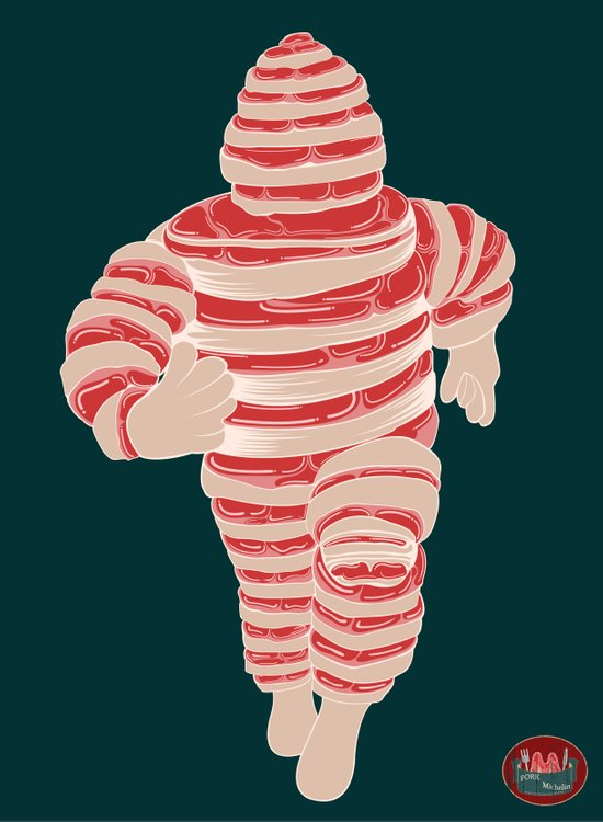 Pork Michelin Art Print