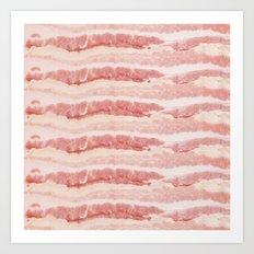 Bacon Strips Print Design Art Print